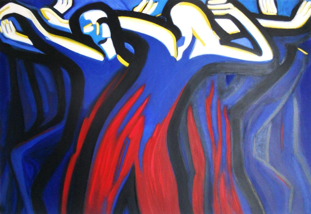 Danseurs bleus
