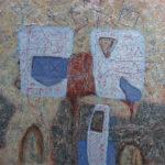 Chamarré aux surfaces bleues 2002